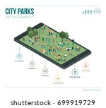 city park  sustainability and... | Shutterstock .eps vector #699919729