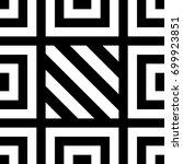 seamless tile with black white... | Shutterstock .eps vector #699923851