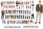 isolated  a collection of... | Shutterstock .eps vector #699929191