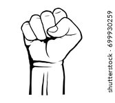 human clenched fist. protest ...   Shutterstock .eps vector #699930259
