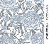 floral seamless pattern with... | Shutterstock .eps vector #699930271