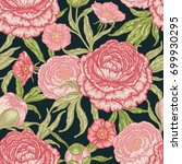 floral seamless pattern with... | Shutterstock .eps vector #699930295