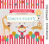 happy birthday invitation for... | Shutterstock .eps vector #699931561