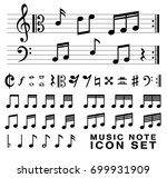 standard music notes symbol set ... | Shutterstock .eps vector #699931909