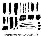 set of grunge banners. grunge... | Shutterstock .eps vector #699934015