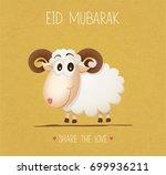 eid al adha mubarak.vector... | Shutterstock .eps vector #699936211