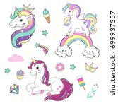 unicorns collection   Shutterstock .eps vector #699937357