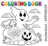 coloring book ghost subject  ... | Shutterstock .eps vector #699938239