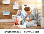 happy family mother  housewife... | Shutterstock . vector #699938485