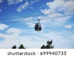 cable car and blue sky | Shutterstock . vector #699940735
