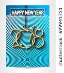 2018 happy new year background... | Shutterstock .eps vector #699941731