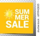 vector hot summer sale sticker .... | Shutterstock .eps vector #699942835