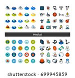 set of icons in different style ... | Shutterstock .eps vector #699945859