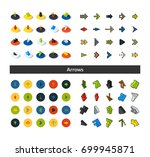 set of icons in different style ... | Shutterstock .eps vector #699945871