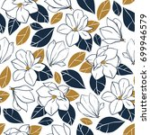 vector trendy seamless pattern... | Shutterstock .eps vector #699946579