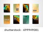 a4 brochure cover mininal... | Shutterstock .eps vector #699949081