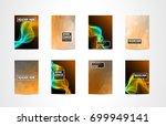 a4 brochure cover mininal... | Shutterstock .eps vector #699949141