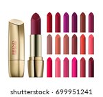lipstick assortment set with... | Shutterstock .eps vector #699951241