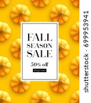 design banner autumn sale. fall ... | Shutterstock .eps vector #699953941