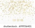 abstract pattern of random gold ... | Shutterstock .eps vector #699956401