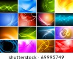 collection of abstract... | Shutterstock . vector #69995749