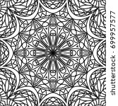 adult coloring book page.... | Shutterstock .eps vector #699957577