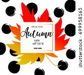 autumn sale banner with...