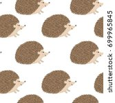 vector seamless pattern with... | Shutterstock .eps vector #699965845