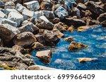 seashore with stones | Shutterstock . vector #699966409