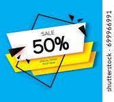 modern paper cut geometric sale ... | Shutterstock .eps vector #699966991