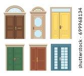 set of doors in various styles. ... | Shutterstock .eps vector #699968134
