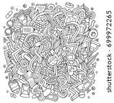 cartoon cute doodles hand drawn ... | Shutterstock .eps vector #699972265