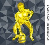 geometric crossfit concept.... | Shutterstock .eps vector #699973975