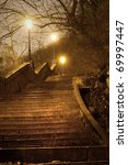 Old Staircase In The Night