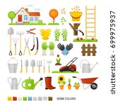big set of vector elements for... | Shutterstock .eps vector #699975937