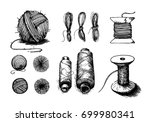 a set of vector elements on the ... | Shutterstock .eps vector #699980341