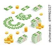 set of isometric money isolated ...   Shutterstock .eps vector #699982327