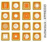clothes button icons set in... | Shutterstock .eps vector #699983335