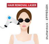 hair removal laser vector... | Shutterstock .eps vector #699985684