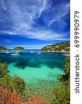 lakka bay and small part of... | Shutterstock . vector #699990979