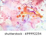 color splashes pattern  | Shutterstock . vector #699992254