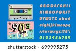 90's music mix. super hits on... | Shutterstock .eps vector #699995275