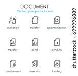 document theme  line icon set.... | Shutterstock .eps vector #699996889