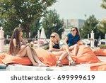 summer mood joyful young women... | Shutterstock . vector #699999619