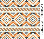 vector seamless ethnic pattern. ... | Shutterstock .eps vector #700001611