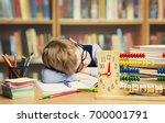 student child sleeping in... | Shutterstock . vector #700001791