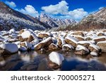 seoraksan mountains is covered...   Shutterstock . vector #700005271