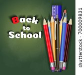 back to school sale banner... | Shutterstock .eps vector #700009831