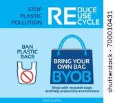 stop plastic pollution ban... | Shutterstock .eps vector #700010431