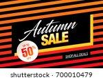 autumn sale template banner ... | Shutterstock .eps vector #700010479
